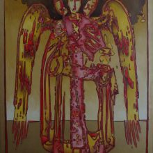 Angels to Avatars 1. Oil on Canvas. 120cm x 80cm.