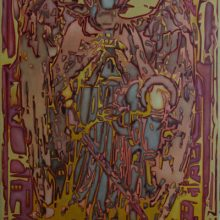 Searching for the God Particle. Oil on Canvas. 120cm x 80cm.